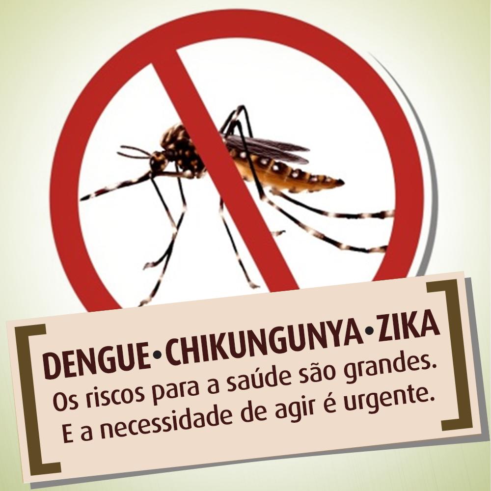 Campanha contra Zika vírus, Dengue e Chikungunya.